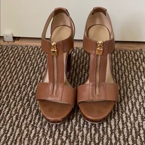 Cognac Brown Sandals - small discoloration right